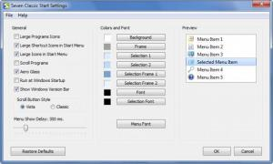 Enlarge Seven Classic Start Screenshot