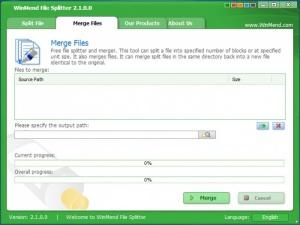 Enlarge WinMend File Splitter Screenshot