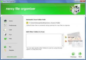 Enlarge Nerxy File Organizer Screenshot