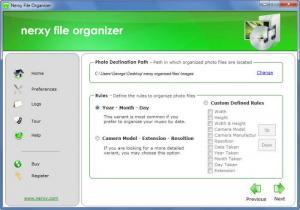 Enlarge Nerxy File Organizer Screenshot