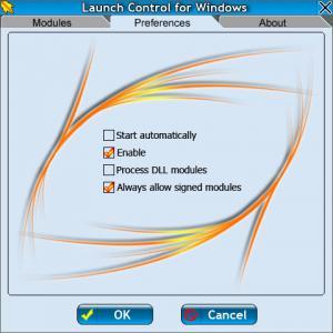 Enlarge Launch Control Screenshot