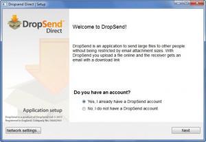 Enlarge DropSend Direct Screenshot
