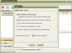 Enlarge ArkBackup Professional Screenshot