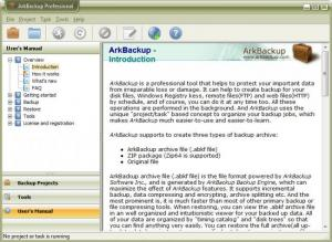 Enlarge ArkBackup Professional Screenshot