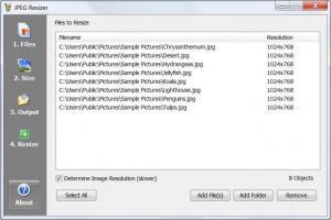 Enlarge JPEG Resizer Screenshot