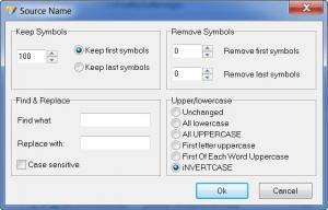 Enlarge Professional Renamer Screenshot