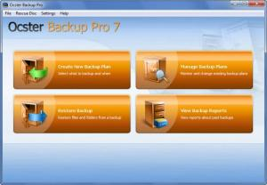 Enlarge Ocster Backup Pro Screenshot
