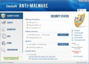 Enlarge Emsisoft Anti-Malware Screenshot