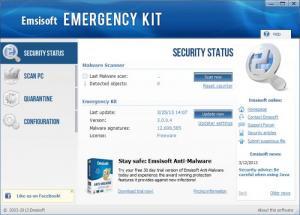 Enlarge Emsisoft Emergency Kit Screenshot