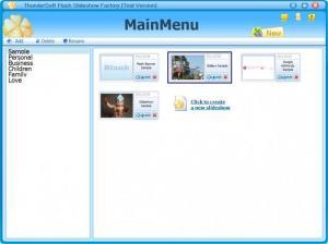 Enlarge Flash Slideshow Factory Screenshot