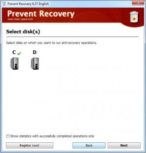 Enlarge Prevent Recovery Screenshot