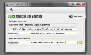 Enlarge Quick Checksum Verifier Screenshot