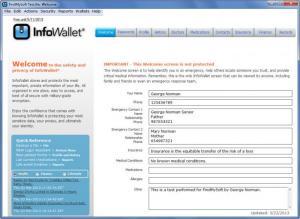 Enlarge InfoWallet Screenshot