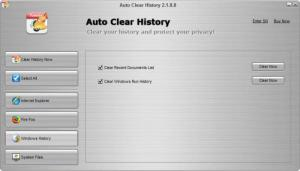 Enlarge Auto Clear History Screenshot