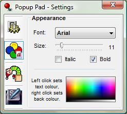 Enlarge Popup Pad Screenshot