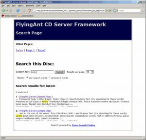 Enlarge FlyingAnt CD Web Server Screenshot