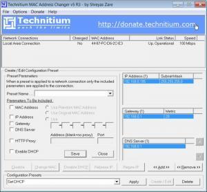 Enlarge Technitium MAC Address Changer Screenshot