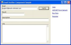 Enlarge Email Validation Component Screenshot