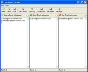 Enlarge Email Verifier Lite Screenshot