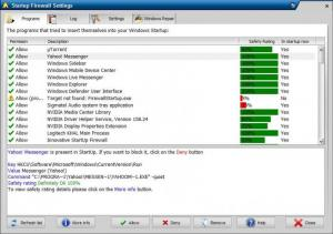 Enlarge Innovative StartUp Firewall Screenshot