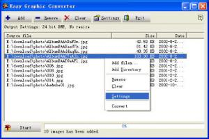 Enlarge Easy Graphic Converter Screenshot