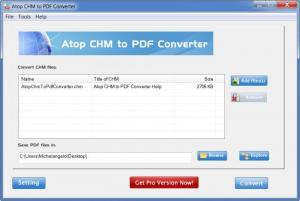 Enlarge Atop CHM to PDF Converter Screenshot