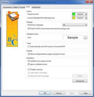Enlarge PDF2XL OCR Screenshot