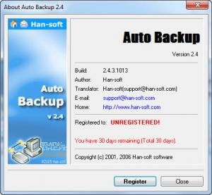 Enlarge Auto Backup Software Screenshot