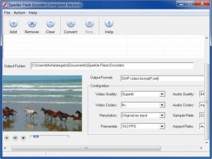 Enlarge Sparkle Flash Encoder Screenshot