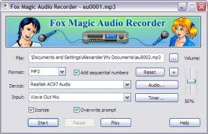 Enlarge Fox Magic Audio Recorder Screenshot