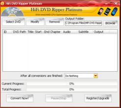 Enlarge HiFi DVD Ripper Platinum Screenshot