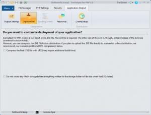 Enlarge ExeOutput for PHP Screenshot