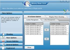 Enlarge History Clean Screenshot