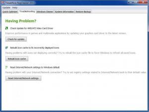 Enlarge TweakNow RegCleaner Screenshot