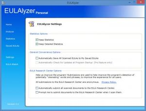 Enlarge EULAlyzer Screenshot