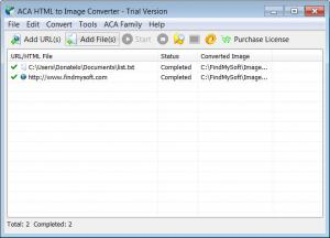 Enlarge ACA HTML to Image Converter Screenshot