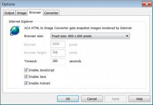 Enlarge ACA HTML to Image Converter Screenshot