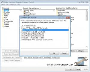 Enlarge Start Menu Organizer Screenshot