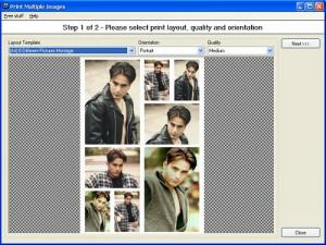 Enlarge Pos Multiple Image Printing Wizard Screenshot