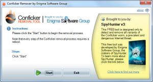 Enlarge Conficker Removal Tool Screenshot