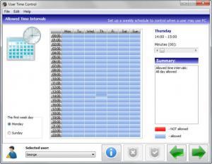 Enlarge User Time Control Center Screenshot