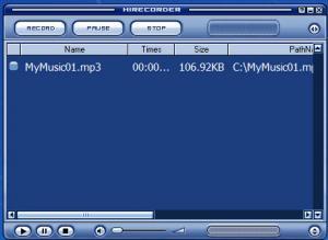 Enlarge HiRecorder Screenshot