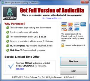 Enlarge AUDIOzilla Screenshot
