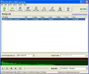Enlarge Softdiv MP3 to WAV Converter Screenshot