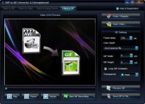 Enlarge SWF-AVI-GIF Converter Screenshot
