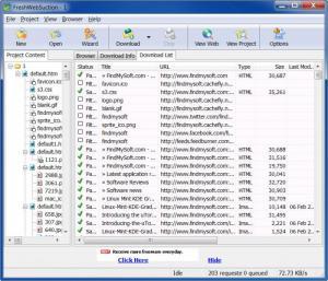 Enlarge Fresh WebSuction Screenshot