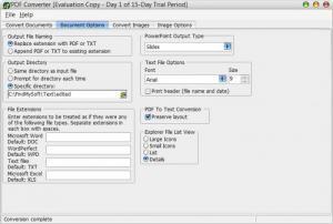 Enlarge PDF Converter Screenshot