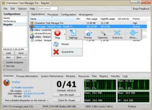 Enlarge Chameleon Task Manager Screenshot