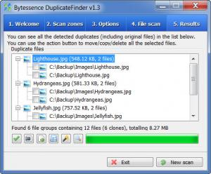 Enlarge Bytessence DuplicateFinder Screenshot