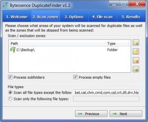 Enlarge Bytessence DuplicateFinder Screenshot